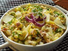 Květákový mozeček s bramborami z jedné pánve Potato Salad, Food Porn, Food And Drink, Potatoes, Treats, Cooking, Ethnic Recipes, Food, Sweet Like Candy