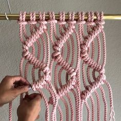 How to Make a Zig Zag Pattern // I thought it would be good to show a simple Zig Zag Clove Hitch Pattern. Yes, this is a replay, and that's ok. This can be done with any combination of cords and the video shows them in sets of 3. The cords are 1/4th inch thick and 8 feet each, purchased from knotandrope.com/Elsie and hand dyed by me. I attached 3 cords (1 at a time) to the bar using the Larks Head Knot. Because they are folded in half and attached there are now 6 cords numbered 1-6 from left…