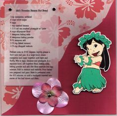 Lulu`s Hawaiian Banana Nut Bread Disney Recipe Swap by NancyLuvsMickey - Cards and Paper Crafts at Splitcoaststampers Disney Themed Food, Disney Inspired Food, Disney Food, Walt Disney, Disney Snacks, Disney Dishes, Disney Desserts, Retro Recipes, Vintage Recipes