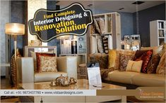 Find Complete Interior Designing & Renovation Solution with #VistaarDesigns. Get your home a revamp with us. Call us at +919873437780 or email at info@vistaardesigns.com or visit our website www.vistaardesigns.com  #VistaarDesigns #HomeInteriors #DesignConsultancy #TurnkeyInteriors