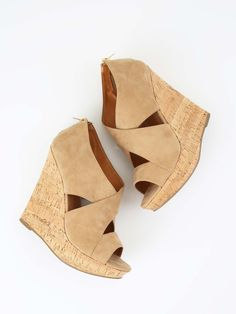 Altar'd State Strappy Suede Wedges