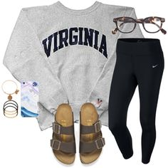 A fashion look from February 2016 featuring NIKE activewear pants, Birkenstock sandals and Alex and Ani bracelets. Browse and shop related looks.