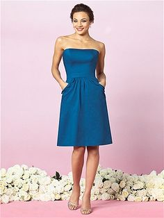 THIS IS IT GIRLS! Strapless with pockets, light weight. Ditching the belt....it's weird....either in the pantone turquoise or palomino which is a natural color like the linen pants the guys are wearing and we can add our own pop of color with a ribbon as a belt or something.  Definitely can wear again! :)