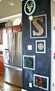 DIY chalkboard gallery wall
