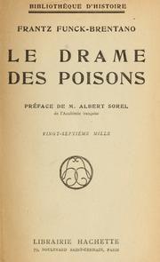 Le drame des poisons  Frantz Funck-Brentano