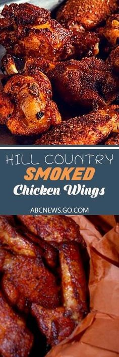 20 Smoked Chicken Wings Recipes To Try At Home - Country Style Chicken Wings #chickenrecipes #brobbq #wings Smoke Chicken Wings Recipe, Smoked Chicken Wings, Chicken Wing Recipes, Chicken Dips, Fried Chicken, Smoked Meat Recipes, Barbecue Recipes, Grilling Recipes, Vegetarian Grilling