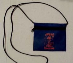 VINTAGE ATTITUDE IS EVERYTHING SMALL BLUE BAG FOR MONEY #Unbranded #ChangePurse #ANY
