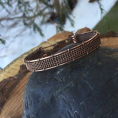 Wire Wrap, Wire Wrapped Bracelet, Copper Bracelet, Woven Bracelet, Heady Wire Wrap, Wire Wrapped Jewelry, Sweet Water Silver, Unique Gift