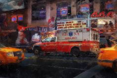 FDNY EMS Oil Painting EMT firefighter fire by ReburnDesigns