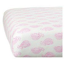 organic fitted crib sheet - taj pink