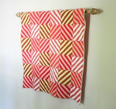 Pippa Quilts - Slanting Stripes Wall Quilt