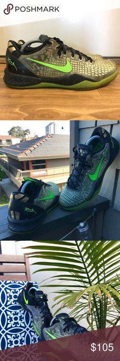 14d983ea945d Wore 3x casually and traction is still immaculate! No original box and will  ship in replacement box. Nike Kobe 8 SS Color  Black Electric Green-Cool ...