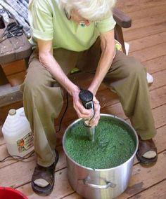 Japanese Indigo, vinegar method explained
