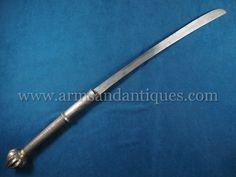 Fine 19th C. Burmese Thailand Chinese Yunnan Dha or Darb Sword