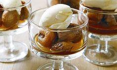 Apricots, tea, mascarpone