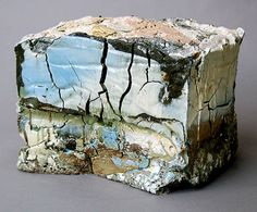 Landfill No. 1 by Jonathan Mess - clays, glazes, stains, 50% recycled http://www.jonathanmess.com/