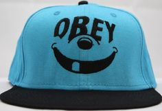 Obey Snapback Smiley Teal / Black Two Tone Adjustable Plastic Snap Back Hat / Cap by OBEY, http://www.amazon.com/dp/B0088RP0BQ/ref=cm_sw_r_pi_dp_gvOWrb19C9SNM