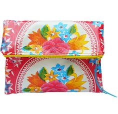 Sophia Fold Over Clutch in Bright Floral Print Free by EricaMaree, $19.00