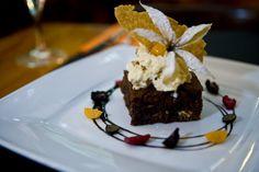Brownie con helado vainilla www.restaurantevinomio.com