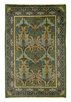 Tulip & Lily 1 rug ~ by C. Voysey, featuring our authentic Arts and Crafts Movement period color palette which coordinates beautifully with both antique and reproduction furniture, textiles, and wall coverings. All Guildcraft Carpets are hand-knotted Craftsman Rugs, Craftsman Interior, Craftsman Style, Craftsman Furniture, Craftsman Houses, Craftsman Bungalows, Arts And Crafts Furniture, Arts And Crafts House, Art Nouveau