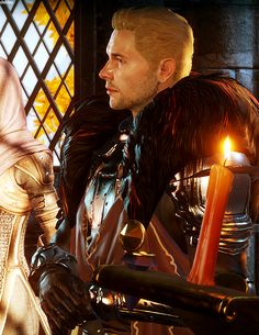 Commander Cullen, in the War Room with Spymaster Leliana and Ambassador Josephine - Dragon Age: Inquisition