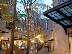 Downtown Seattle Christmas lights