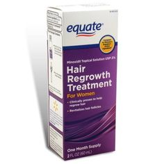 Equate - Hair Regrowth Treatment for Women with Minoxidil 2% Extra Strength, 2 fl oz by Equate. $16.97. 2 fl oz -. Minoxidil Topical Solution USP 2%.. Compare to Rogaine for Women active ingredient.. Revitalizes Hair Follicles.. One Month Supply.