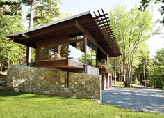 Frank Lloyd Wright-Inspired Style and Camping Collide in Maine | Dwell
