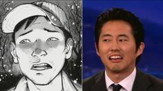 Steven Yeun impersonates comic book Glenn