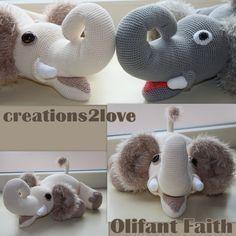 Haakpatroon Olifant Faith Heel veel plezier met het haken van olifant Faith!! Ik zou het ontzettend leuk vinden als je een foto van...