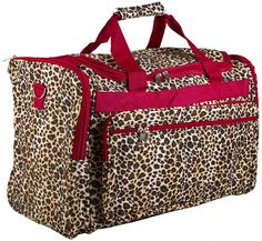 World Traveler Red Leopard Duffle Bag 22-inch ** To view further, visit now : Christmas Luggage and Travel Gear