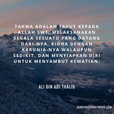 Takwa Quotes Ali Bin Abi Thalib