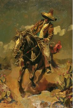 Call Of The Chupacabra by John Moyers, Oil John Moyer, The Chupacabra, Phoenix Art Museum, Mexico Art, Charro, Cowboy Art, Chicano Art, Classic Paintings, Le Far West