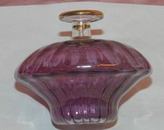 Vintage Very Delicate Hand Blown Amethyst Perfume Bottle With Ribbon Stopper $24.99 + $ 6.50 Shipping