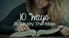 Nine Ways to Study the Bible