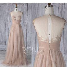 Bridesmaid Dress Khaki Sweetheart Illusion  Tulle Wedding
