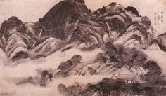 Jeong Seon - Clearing After Rain in Mt. In-wang;  jpg (4449×2583)