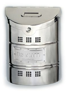 Wall Mailbox, Polished Stainless Steel Finish