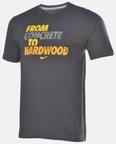 MEN'S SIZE LARGE NIKE T-SHIRT FROM CONCRETE TO HARDWOOD BASKETBALL TEE NWT GRAY #nike #GraphicTee