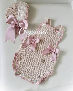 Image may contain: text that says 'Charinni' Handmade Baby Clothes, Knitted Baby Clothes, Cute Baby Clothes, Doll Clothes, Baby Knitting Patterns, Crochet Patterns, Sewing Patterns, Crochet Yarn, Baby Dress