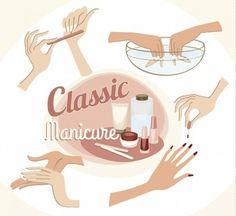 Ilustração manicure clássico