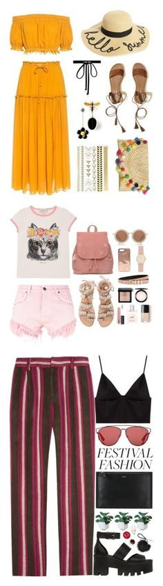 """Winners for Good Vibes Only: Festival Fashion"" by polyvore ❤ liked on Polyvore featuring Apiece Apart, BP., Hollister Co., Joomi Lim, Printed Village, Gucci, GaÃ«lle Bonheur, Elina Linardaki, TOMS and House of Holland"