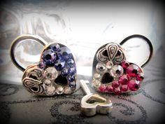 Heart Lock Embellished heart  lock working lock lock by cutiepa2d, $18.00