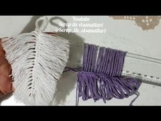 Easy feather leaf making with ruler is very fashionable nowadays do it in your turn – … - Macrame 2019 Diy Projects Arts And Crafts, Creative Crafts, Diy And Crafts, Crochet Motif, Crochet Stitches, Crochet Flowers, Macrame Projects, Crochet Projects, Japanese Ornaments