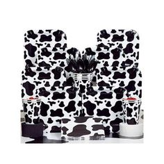 Cow Print Deluxe Kit (Serves 8) - Party Supplies