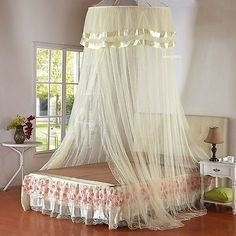 New Deluxe Bed Dome Netting Canopy Fly Insect Mosquito Net one size for all