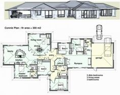 Many 4 bedroom house plans include amenities like mud rooms studies and walk in pantriesto see more four bedroom house plans try our advanced floor plan search. Free House Plans, Best House Plans, House Floor Plans, Contemporary House Plans, Modern House Plans, Modern House Design, Modern Contemporary, Layouts Casa, House Layouts