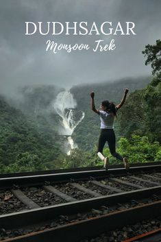 Dudhsagar Trek In Monsoon - A Complete Guide On What To Expe.- Dudhsagar Trek In Monsoon – A Complete Guide On What To Expect Dudhsagar Monsoon Trek – Dudhsagar Goa – Everything you need to know about the Dudhsagar trek in monsoon ( July ) - Goa Travel, India Travel Guide, Travel Tours, Travel Guides, Travel Destinations, Cool Places To Visit, Places To Travel, Vacation Places, Nature Photography