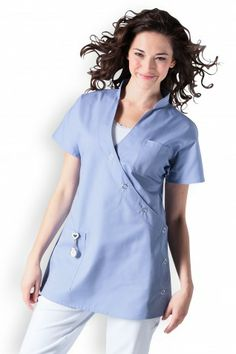 blouse médicale courte
