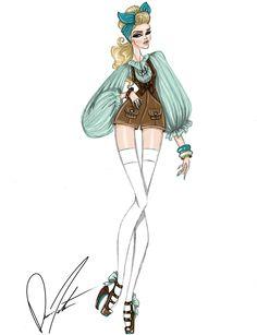 Disney fashion frenzy, Cinderella, Sing Sweet Nightingale by Daren J Disney Princess Fashion, Disney Princess Drawings, Disney Inspired Fashion, Disney Drawings, Disney Style, Disney Love, Disney Art, Disney Fashion, Cinderella Art